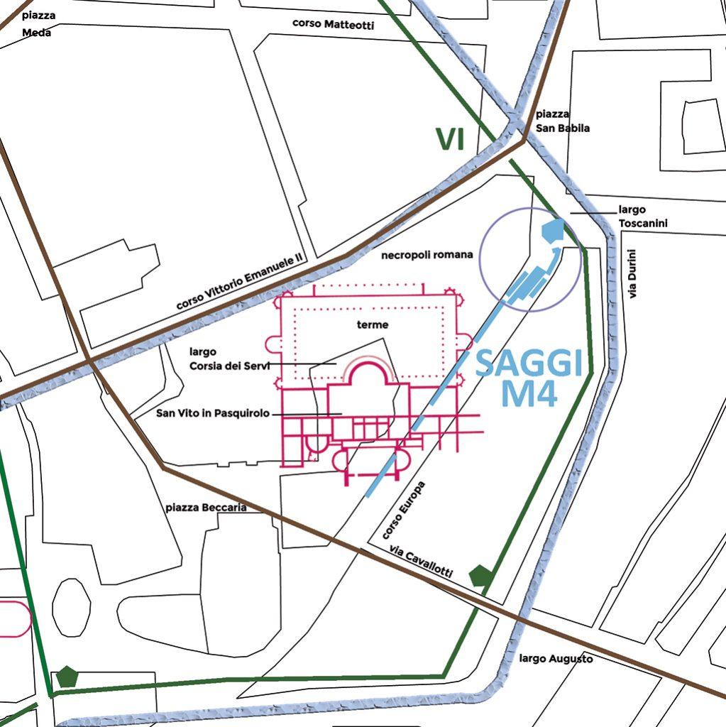 Negli scavi aperti fra il 2008 e il 2018 durante i lavori per la linea M4 sono emerse nuove testimonianze di età romana, dalle sepolture all'esterno della città antica agli ambienti delle lussuose terme.